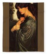 Rossetti Dante Gabriel - Proserpine End Dante Gabriel Rossetti Fleece Blanket