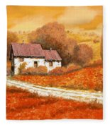 Rosso Papavero Fleece Blanket by Guido Borelli