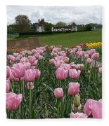 Rosy Field Fleece Blanket