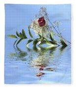 Rosy Reflection  Fleece Blanket