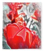 Rosy Swirl Fleece Blanket