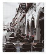 Rothenburg Cafe - Digital Fleece Blanket