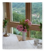 Rothenburg Dining With A View Fleece Blanket