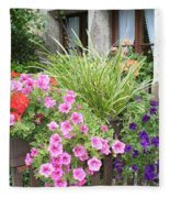 Rothenburg Flower Box Fleece Blanket