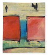Rothko Meets Hitchcock Fleece Blanket