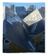 Rotterdam - The Cube Houses And Skyline Fleece Blanket