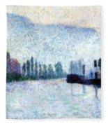 Rouen La Seine Et Les Collines Canteleu 1887 Fleece Blanket