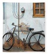 Rough Bike Fleece Blanket