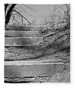 Rough Steps Up The Riverbank Fleece Blanket