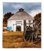 Round Barn Fleece Blanket