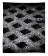 Round Peg Square Hole Fleece Blanket