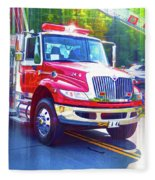 Round Top Vol. Fire Co. Inc. New York 6 Fleece Blanket