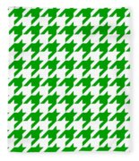 Rounded Houndstooth White Background 09-p0123 Fleece Blanket