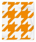 Rounded Houndstooth White Pattern 03-p0123 Fleece Blanket