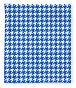 Rounded Houndstooth White Pattern 18-p0123 Fleece Blanket