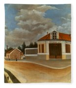 Rousseau: Factory, C1897 Fleece Blanket