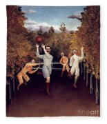 Rousseau: Football, 1908 Fleece Blanket