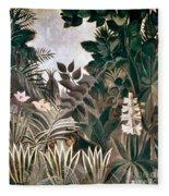 Rousseau: Jungle, 1909 Fleece Blanket