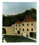 Rousseau:promenaders,c1907 Fleece Blanket