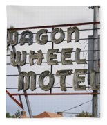 Route 66 - Wagon Wheel Motel Fleece Blanket