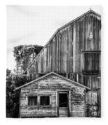 Route 66 Barn 1 Fleece Blanket