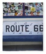 Route 66 Bench Fleece Blanket