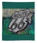 Route 66 Digital Stained Glass Fleece Blanket