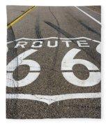 Route 66 Highway Sign Fleece Blanket