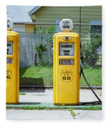 Route 66 - Illinois Gas Pumps Fleece Blanket