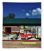 Route 66 Mural Fleece Blanket