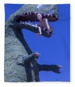 Route 66 Roadside Dinosaur Fleece Blanket