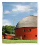Route 66 Round Barn Fleece Blanket