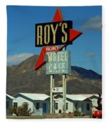 Route 66 - Roy's Of Amboy California 2 Fleece Blanket