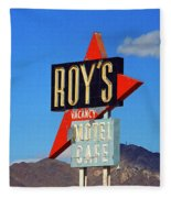 Route 66 - Roy's Of Amboy California Fleece Blanket