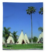 Route 66 - Wigwam Motel 4 Fleece Blanket