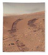 Roving Across Mars 1 - Earth Light Fleece Blanket