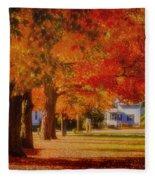 Row Of Maples Fleece Blanket