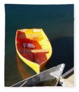 Rowboats In Rockport, Ma Fleece Blanket