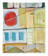 Rowhouse No. 2 Fleece Blanket