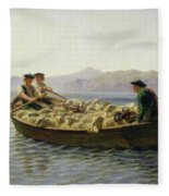 Rowing Boat Fleece Blanket
