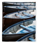 Rowing Boats Fleece Blanket