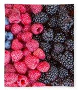 Rows Of  Berries  Fleece Blanket