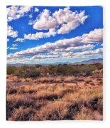 Rows Of Clouds Over Sonoran Desert Fleece Blanket