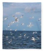 Royal Blue Ocean Tern Fleece Blanket