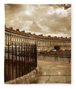 Royal Crescent Bath Somerset England Uk Fleece Blanket