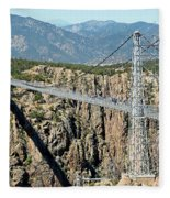 Royal Gorge Bridge In Summer Fleece Blanket