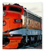 Royal Gorge Engine 403 Fleece Blanket