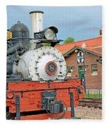Royal Gorge Train And Depot Fleece Blanket