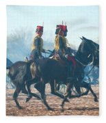 Royal Horse Artillery Painted Fleece Blanket
