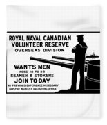 Royal Naval Canadian Volunteer Reserve Fleece Blanket
